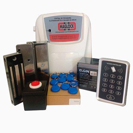 Kit Controle de acesso fechadura magnética 170kg