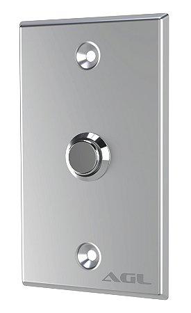 Botoeira espelho inox botão metal - AGL