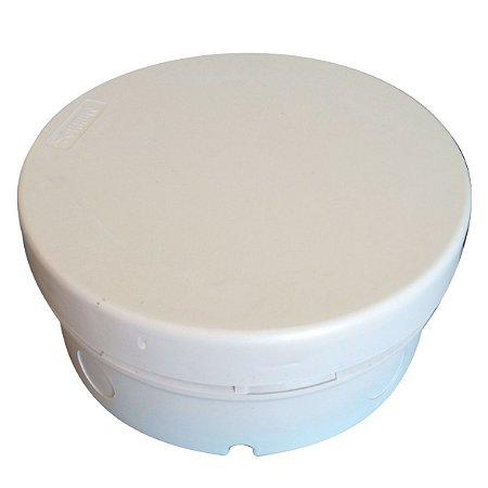 Caixa hermética 12X5cm redonda Branca Multitoc