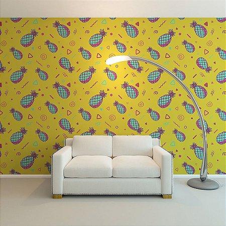 Abacaxi Amarelo - Papel de Parede