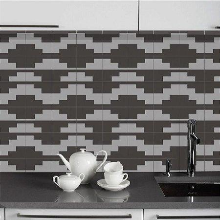 Azulejos Geométrico - Tetris - 16 peças com 20x20cm cada