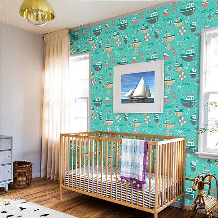 Barcos - Papel de Parede Infantil