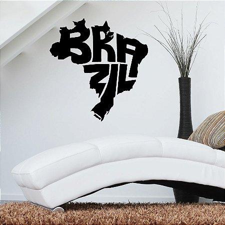 Brazil - Adesivo Decorativo 55 x 60 cm