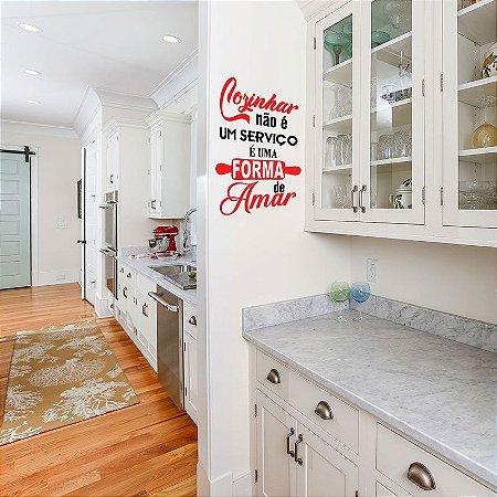 Cozinhar Não É Um Serviço - Adesivo Decorativo 35x50 cm