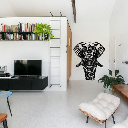 Elefante Mandala - Adesivo Decorativo 83 x 100 cm