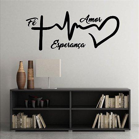 Fé Amor e Esperança 83 x 35 cm /