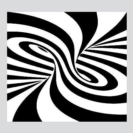 Ilusão de Ótica II - Adesivo Decorativo 200 x 200 cm