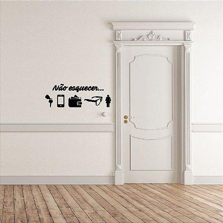 Não esquecer - Adesivo Decorativo 45 x 15cm