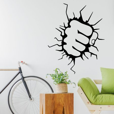 Soco Super Herói - Adesivo Decorativo 75 x 93 cm