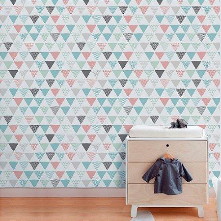 Triângulos Coloridos - Papel de Parede Infantil /