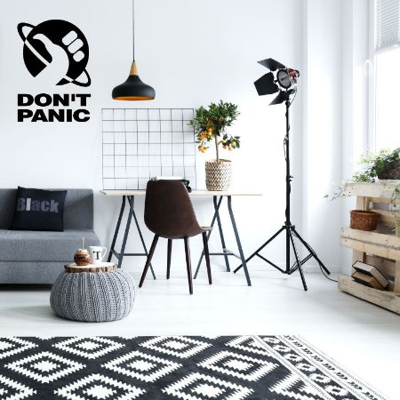 Don't Panic - Adesivo Decorativo 40x55 cm