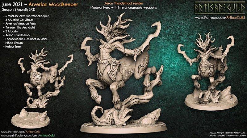 Xeron, Casco-de-Trovão - Guarda-Matas Arverianos - Miniatura Artisan Guild