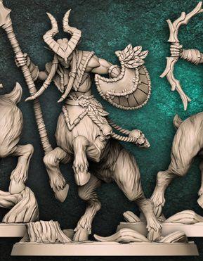 "Cervitauro  ""B"" - Guarda-Matas Arverianos - Miniatura Artisan Guild"