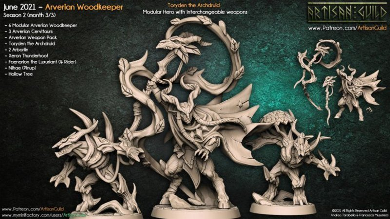 Toryden, o Arquidruida - Guarda-Matas Arverianos - Miniatura Artisan Guild