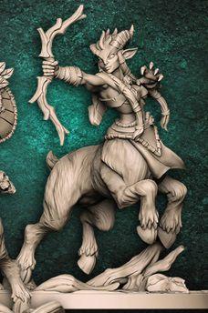 """Cervitauro  """"C"""" - Guarda-Matas Arverianos - Miniatura Artisan Guild"""