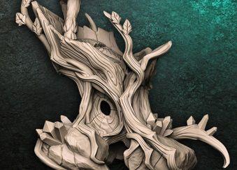 Arvore Oca (Terreno) - Guarda-Matas Arverianos - Miniatura Artisan Guild