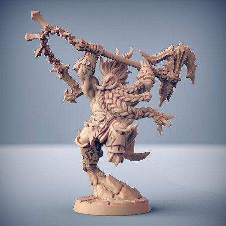 Gundroff, Chama Furiosa - Busca-Chamas de Dumlok - Miniatura Artisan Guild