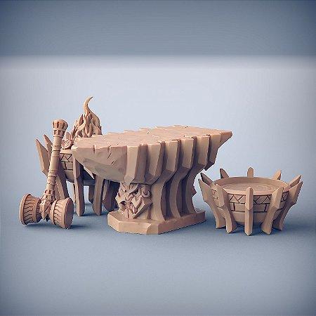 Bigorna dos Dumlok (Terreno) - Busca-Chamas de Dumlok - Miniatura Artisan Guild