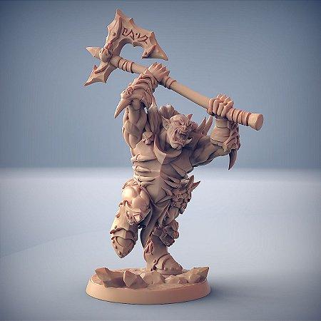"ORC FROSTMETAL ""A"" - Clã Frostmetal - Miniatura Artisan Guild"