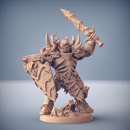 "ORC FROSTMETAL ""B"" - Clã Frostmetal - Miniatura Artisan Guild"