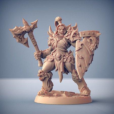 "ORC FROSTMETAL ""G"" - Clã Frostmetal - Miniatura Artisan Guild"