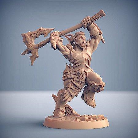 "ORC FROSTMETAL ""H"" - Clã Frostmetal - Miniatura Artisan Guild"