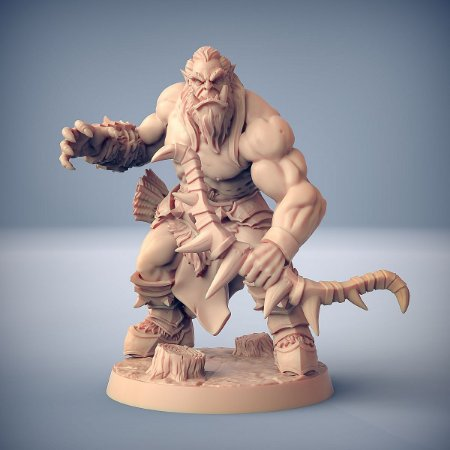 """ORC """"E"""" - Orcs Bárbaros - Miniatura Artisan Guild"""