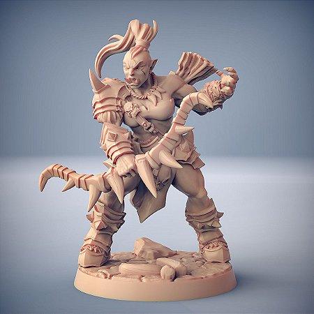 """ORC """"F"""" - Orcs Bárbaros - Miniatura Artisan Guild"""