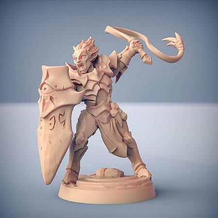 "Inquisidor ""A"" - Inquisidores Elfos Cinzentos - Miniatura Artisan Guild"