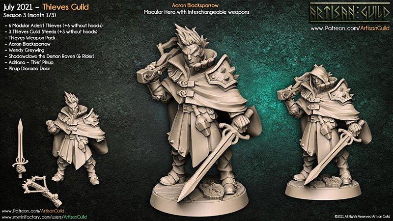 Aaran Blacksparrow - Guilda dos Ladrões - Miniatura Artisan Guild