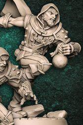 """Adepto """"B"""" com capuz - Guilda dos Ladrões - Miniatura Artisan Guild"""