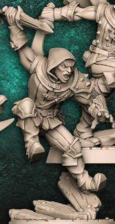 """Adepto """"C"""" com capuz - Guilda dos Ladrões - Miniatura Artisan Guild"""
