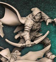 """Adepto """"E"""" com capuz - Guilda dos Ladrões - Miniatura Artisan Guild"""