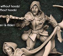 """Adepto """"F"""" com capuz - Guilda dos Ladrões - Miniatura Artisan Guild"""