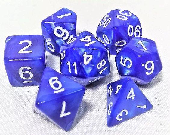 CONJUNTO DE DADOS DE RPG (d4,d6,d8,d10x2,d12 e d20)