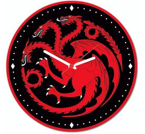 RELÓGIO DE PAREDE - TARGARYEN - Game of Thrones