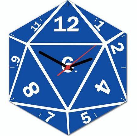 RELÓGIO DE PAREDE - D20 - RPG
