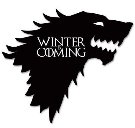 PLACA DECORATIVA - WINTER IS COMING - 30x30 - Game of Thrones