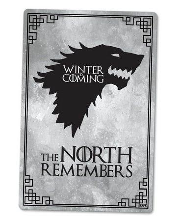PLACA DECORATIVA - THE NORTH - 24x16 - Game of Thrones