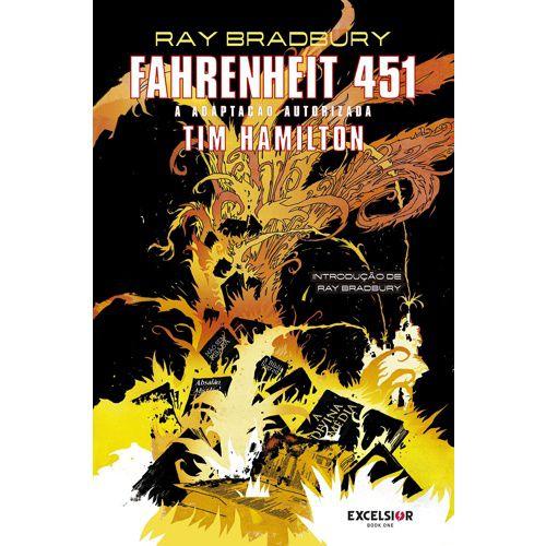 GRAPHIC NOVEL - FAHRENHEIT 451 - Ed. EXCELSIOR - CAPA DURA
