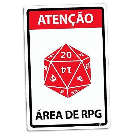 PLACA DECORATIVA - ÁREA DE RPG - 24x16