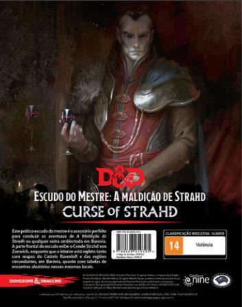 ESCUDO DO MESTRE - A MALDIÇÃO DE STRAHD - D&D - Em português