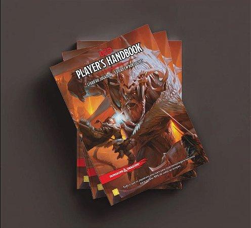 KIT PREMIUM DUNGEONS AND DRAGONS 5ª Ed (em português) - JOGADOR, MONSTROS, MESTRE, ESCUDO E DADOS