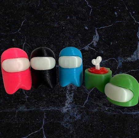 AMONG US - 6cm - Figure (impressão 3D) - Visor e Ossinho brilham no escuro!