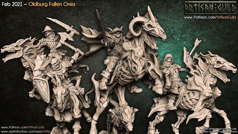 Minibox - Caídos de OldBurg - Box de Miniaturas em resina da Artisan Guild