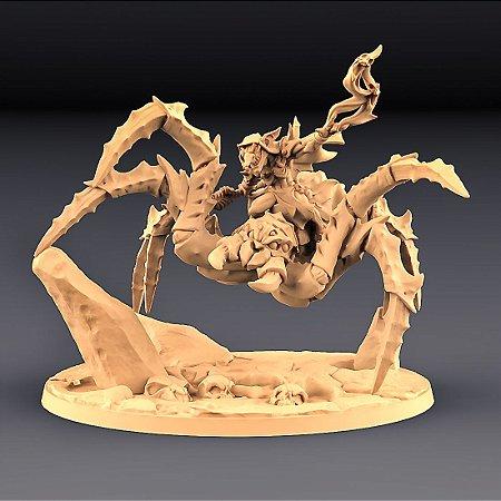 ZIPZAAP E NECROARANHA PAVOROSA - Goblins do clã Sparksoot - Miniatura Artisan Guild