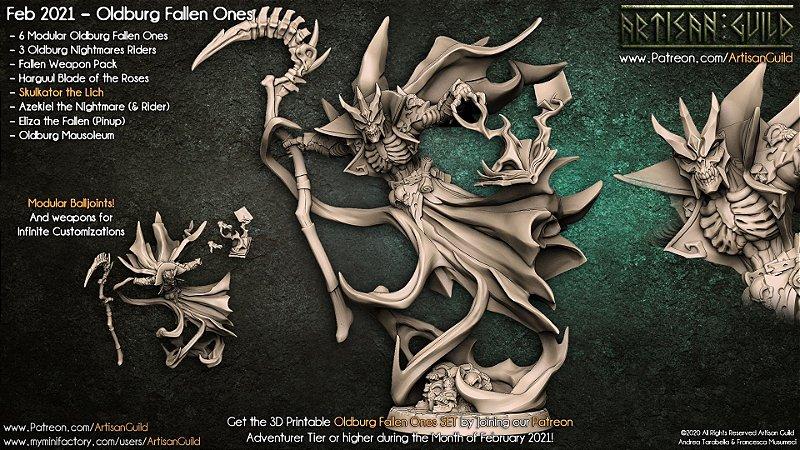 Skulkator, o Lich - Caídos de Oldburg - Miniatura Artisan Guild