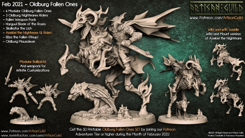 Azekiel, o Pesadelo - Caídos de Oldburg - Miniatura Artisan Guild