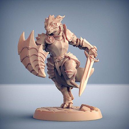 "Guarda ""F"" - Guarda Dracônica - Miniatura Artisan Guild"
