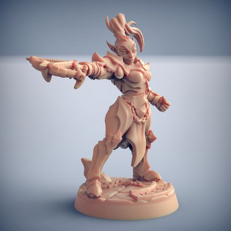 "Inquisidor ""D"" - Inquisidores Elfos Cinzentos - Miniatura Artisan Guild"